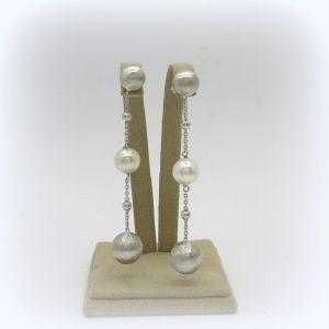 Orecchini pendenti perla in argento 925 Diva Gioielli