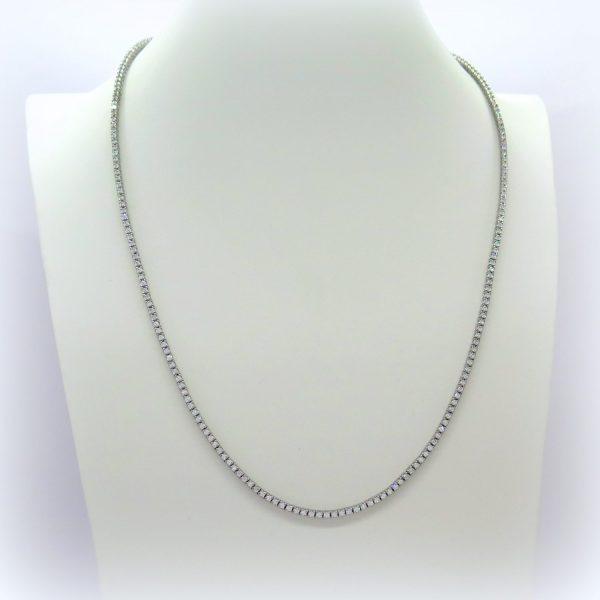 Collana tennis in argento artigianale