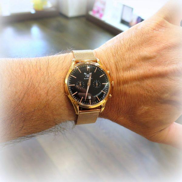 Orologio crono Barbosa rosato