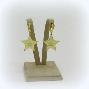 Orecchini pendenti stella argento placcata oro giallo