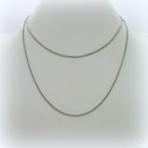 Collana catena donna 90 cm in argento
