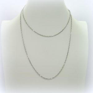 Collana catenina 90 cm in argento 925