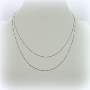 Collana catenina 90 cm sfere in argento 925