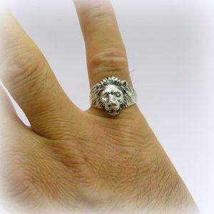 Anello mignolo uomo leone in argento 925
