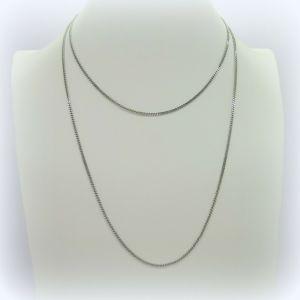 Collana catenina 1 metro groumette in argento 925