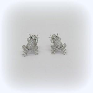 Orecchini rana in argento 925