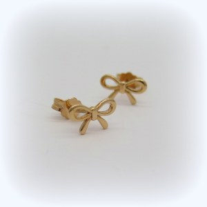 Orecchini fiocco in oro rose' 18 ct