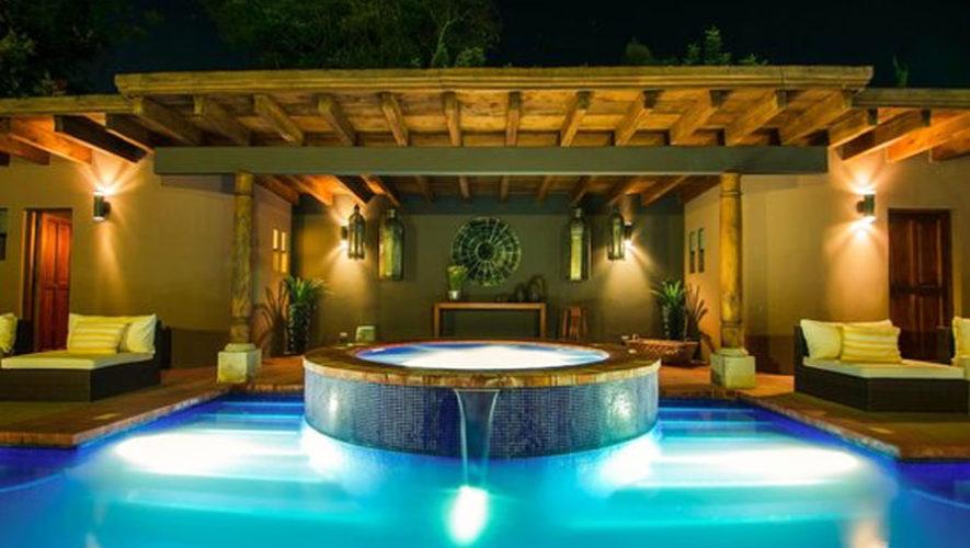 Mil Flores Luxury Design Hotel jacuzzi lujoso con vista  Hoteles con jacuzzi en Guatemala