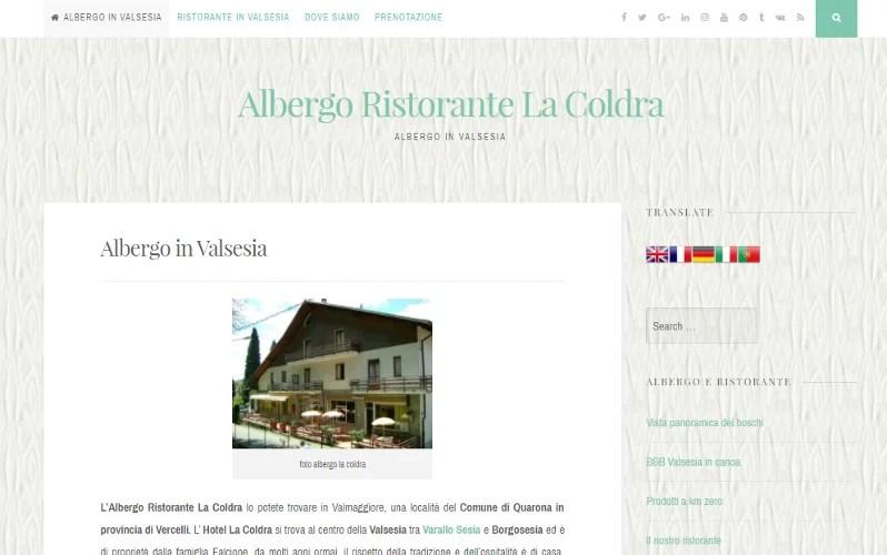 Realizzazione sito web Albergo in Valsesia (VC)