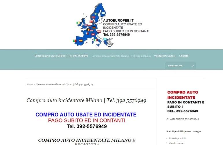 Realizzazione sito web Azienda Compro Auto Milano