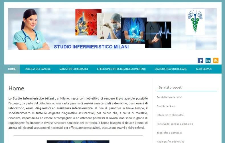 Restyling sito web Studio infermieristico Milani