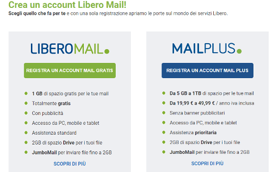 Come cancellare account email Libero | JustNews.it