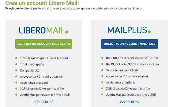 come creare account email su libero