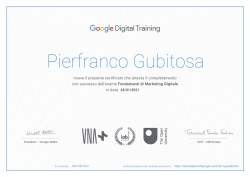 certificato Google Digital Training