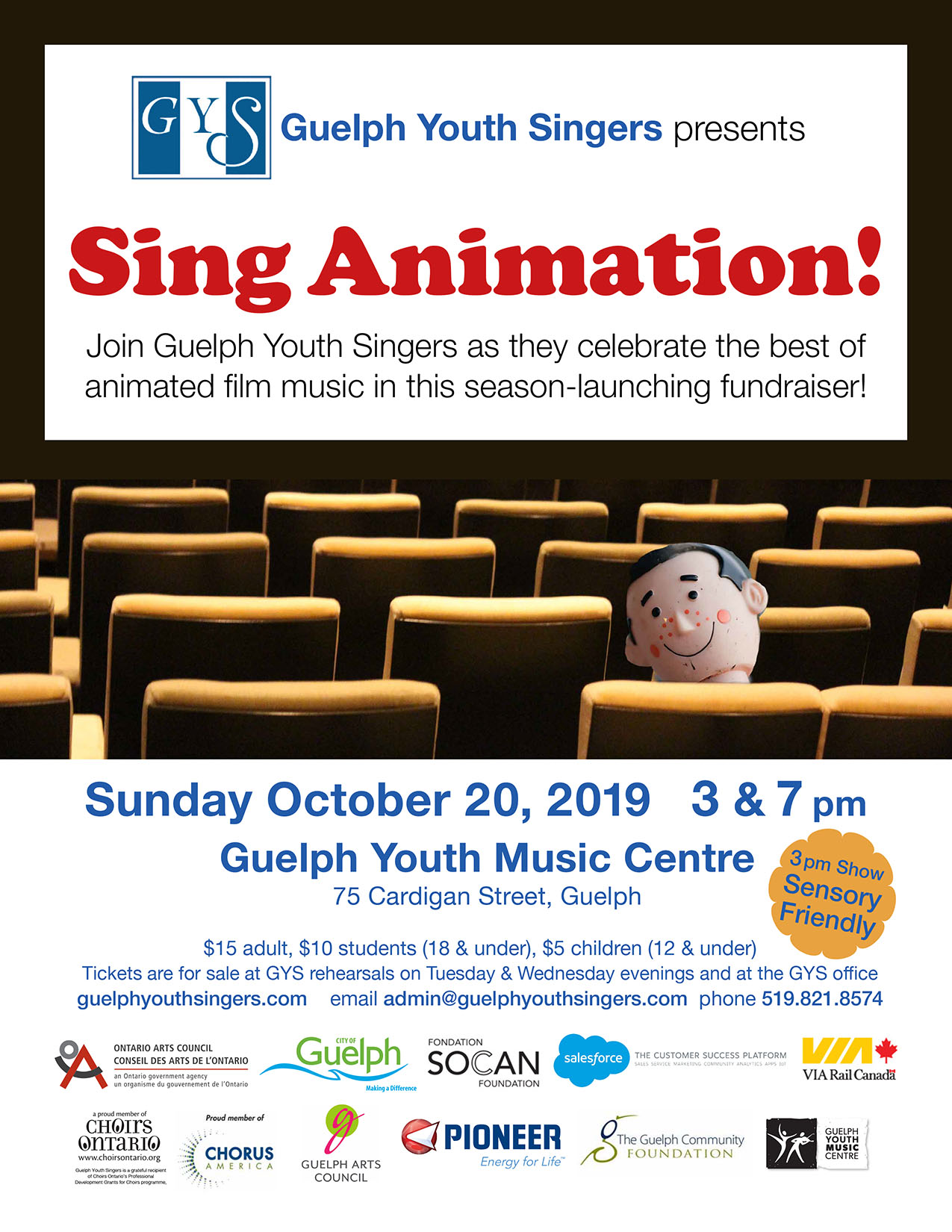 Sing Animation Guelph Youth Singers choir music