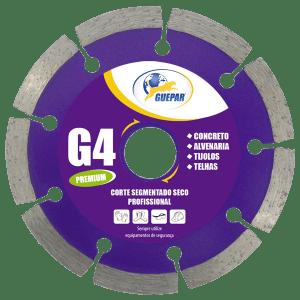 DISCO CORTE SEGMENTADO SECO PROFISSIONAL G4 GUEPAR