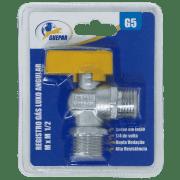 REGISTRO GAS LUXO ANGULAR M X M G5 GUEPAR