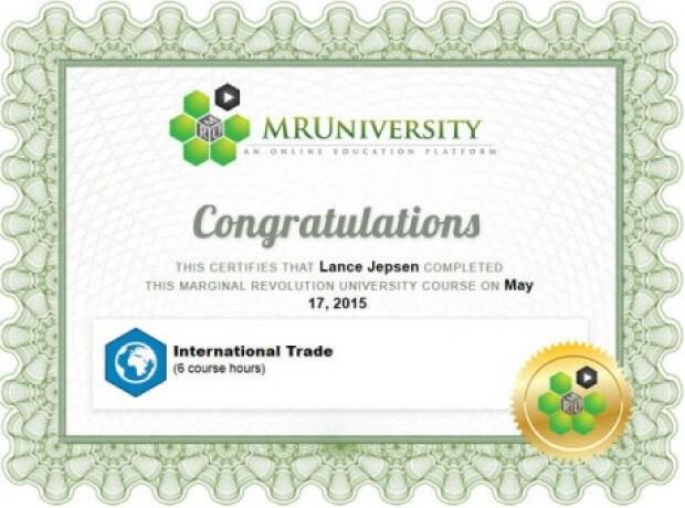 international trade certificate