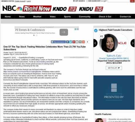 GuerillaStockTrading.com on NBC