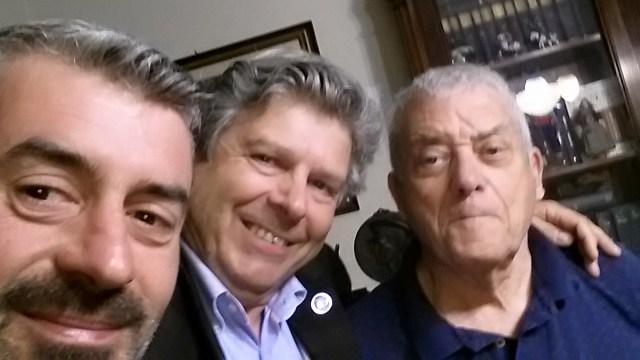Destra,Destra ,Destra .. Marco Santi Guerrieri con l'incommensurabile Cesare Dani e Daniele Massoni coordinatore provinciale Destra Sociale.