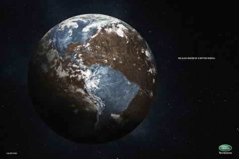 land rover advertentie earth