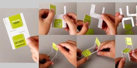 creatief visitekaartje stoel