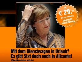 Geurrilla der Woche: Sixt & Ulla Schmidt