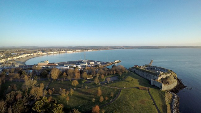 Nothe Fort and Sea Life Tower in Weymouth
