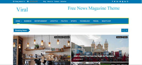 Viral wp news magazine theme free