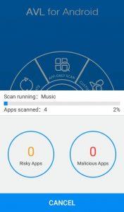AVL antivirus app for Android