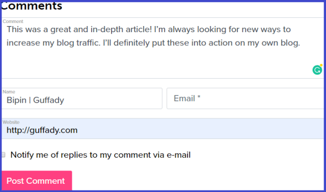 increase blog traffic with comments