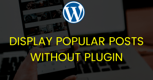 Popular Posts by Views in WordPress