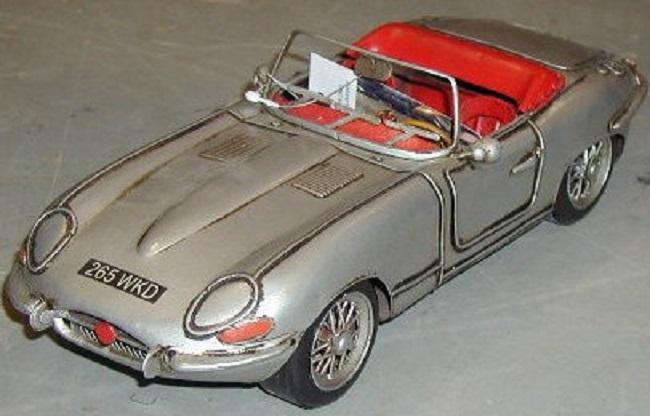 Modellbau Jaguar ~ Jaguar e typ 1961 blechmodell blechspielzeug metall nostalgie