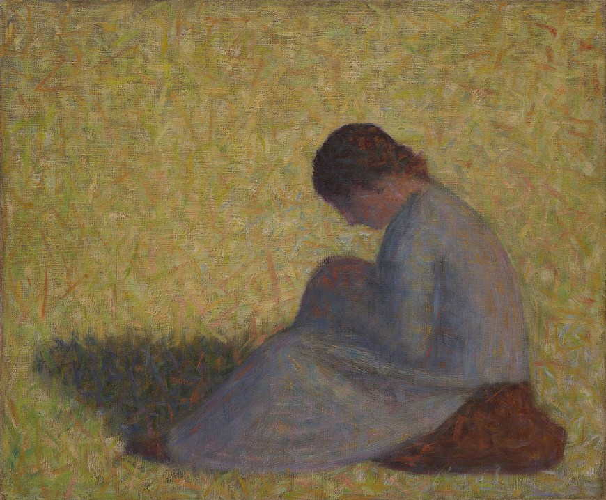 Georges Seurat Painter As Street >> Peasant Woman Seated In The Grass