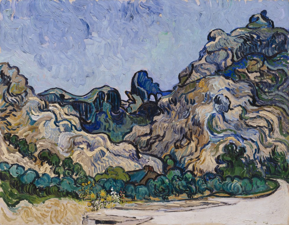 Vincent van Gogh, Mountains at Saint-Rémy, July 1889. Oil on canvas, 28 1/4 x 35 3/4 inches (71.8 x 90.8 cm)