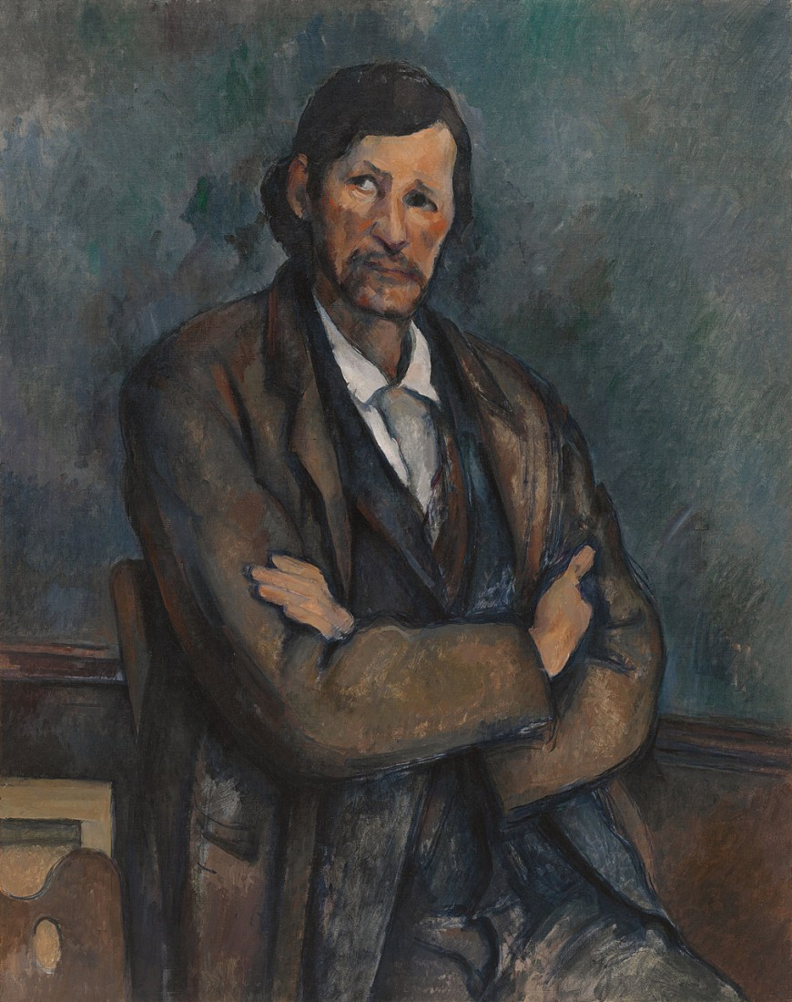 Paul Cézanne, Man with Crossed Arms, ca. 1899. Oil on canvas, 36 1/4 x 28 5/8 inches (92 x 72.7 cm)