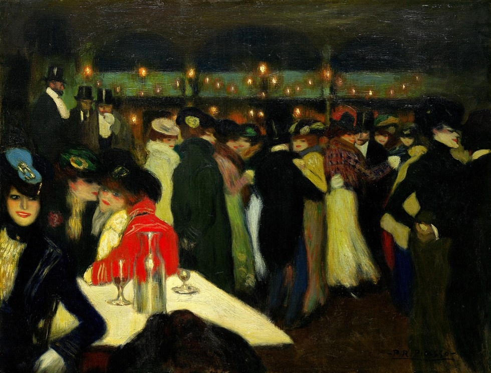 Pablo Picasso, Le Moulin de la Galette, Paris, ca. November 1900. Oil on canvas, 34 3/4 x 45 1/2 inches (88.2 x 115.5 cm)