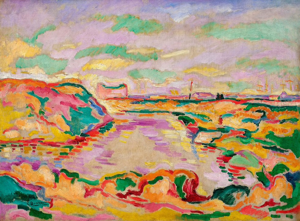 Georges Braque, Landscape near Antwerp, 1906. Oil on canvas, 23 5/8 x 31 7/8 inches (60 x 81 cm)
