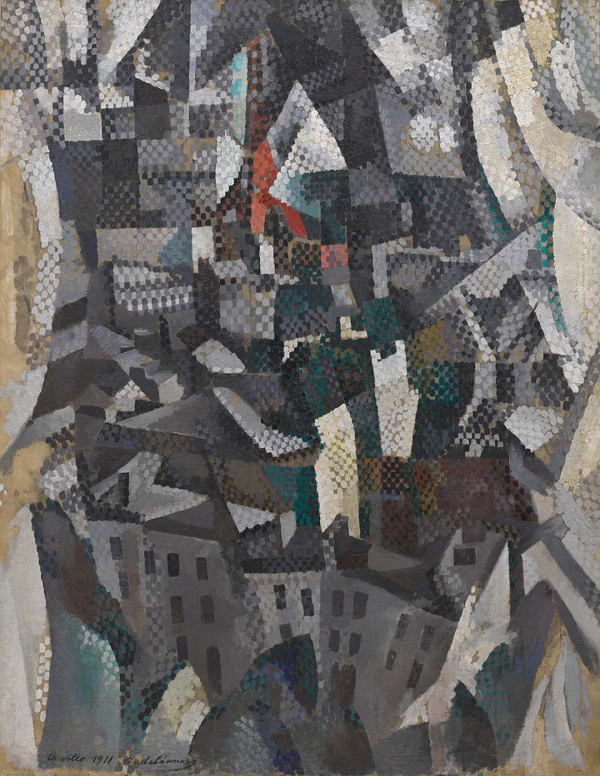 Robert Delaunay, The City, 1911. Oil on canvas, 57 1/16 x 44 1/8 inches (145 x 112 cm)
