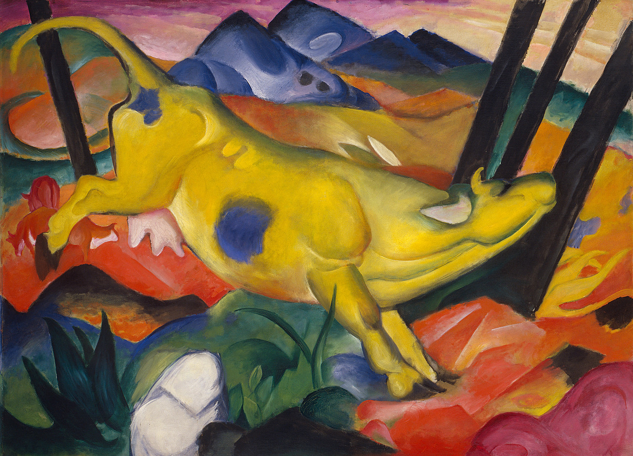 Image result for Franz Marc (1880-1916), Vache jaune (Gelbe Kuh),