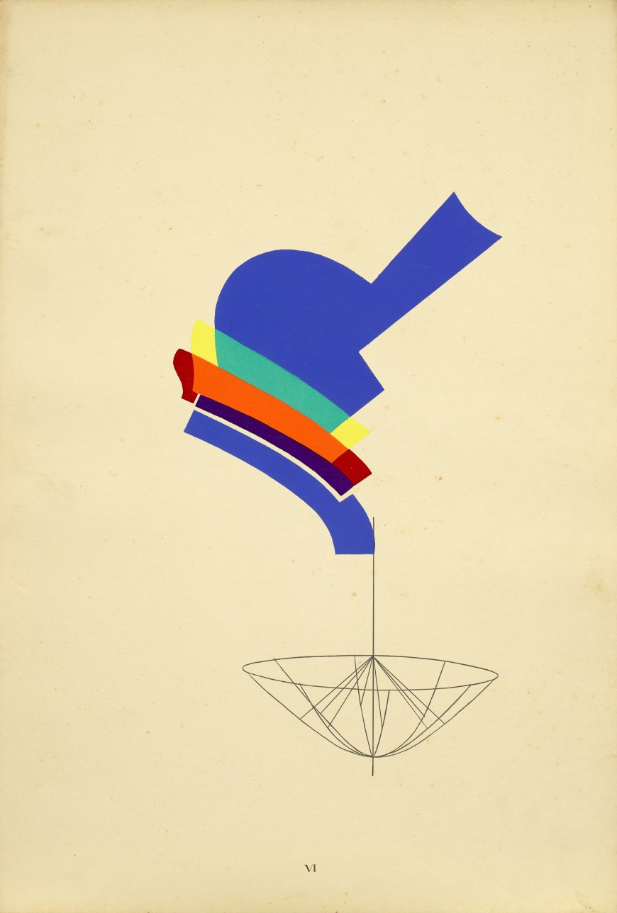 Man Ray, Decanter, 1916–17. Pochoir print with ink on paper, 22 x 15 inches (55.9 x 37.8 cm)