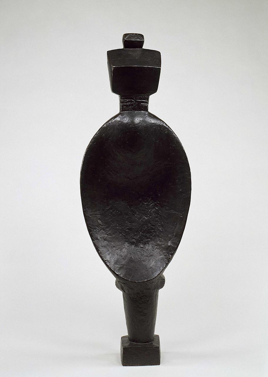 Alberto Giacometti, Spoon Woman, 1926–27 (cast 1954). Bronze, 56 5/8 x 20 1/4 x 8 1/2 inches (143.8 x 51.4 x 21.6 cm)