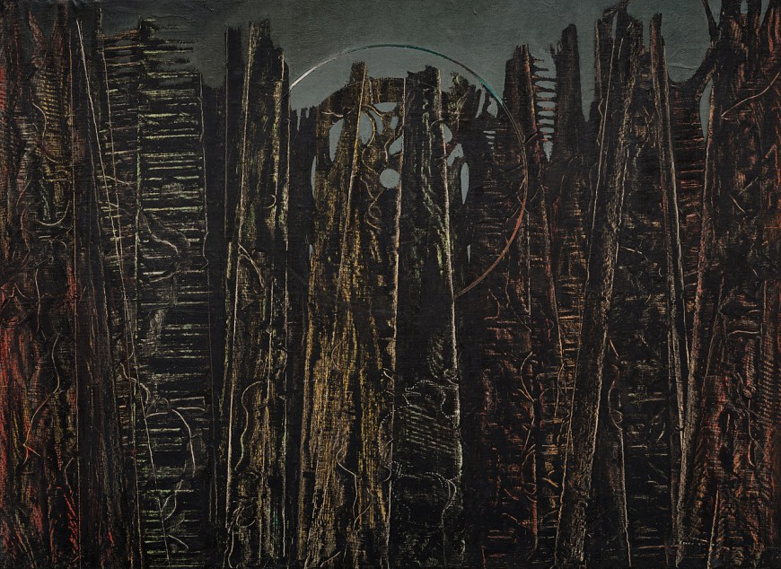 Max Ernst, The Forest, 1927–28. Oil on canvas, 37 7/8 x 51 inches (96.3 x 129.5 cm)
