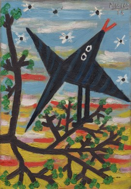 Pablo Picasso, Bird on a Tree, Dinard, August 1928. Oil on canvas, 13 3/4 x 9 1/2 inches (34.9 x 24.1 cm)