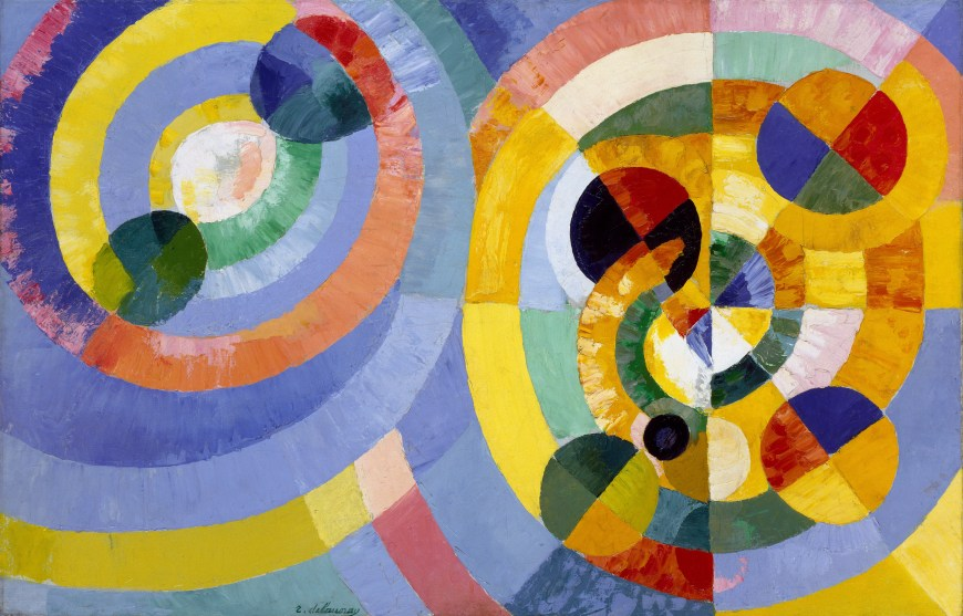 Robert Delaunay, Circular Forms, 1930. Oil on canvas, 50 3/4 x 76 3/4 inches (128.9 x 194.9 cm)