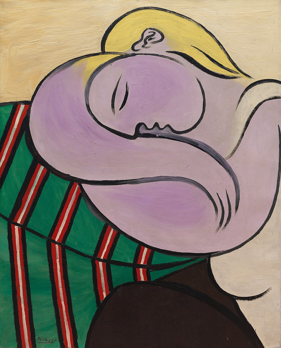 Pablo Picasso, Woman with Yellow Hair, Paris, December 27, 1931. Oil and Ripolin (est.) on canvas, 39 3/8 x 31 7/8 inches (100 x 81 cm)