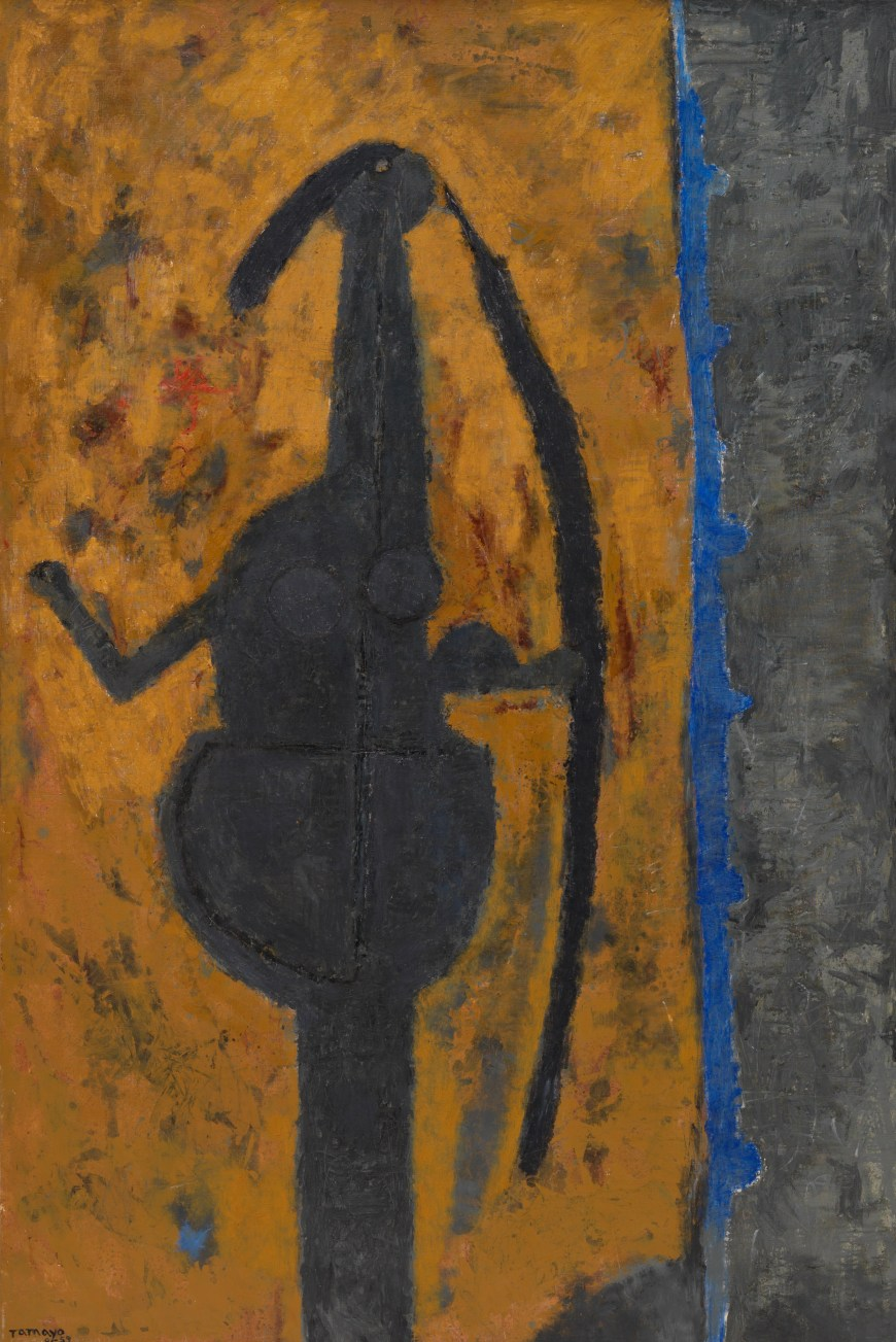 Rufino Tamayo, Woman in Grey, 1959. Oil on canvas, 76 3/4 x 51 inches (195 x 129.5 cm)