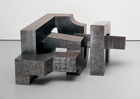 Eduardo Chillida, Three Irons, 1966. Steel, 22 3/4 x 38 1/4 x 42 inches (57.8 x 97.2 x 106.7 cm); 2505.1 lb. (1136.3 kg)