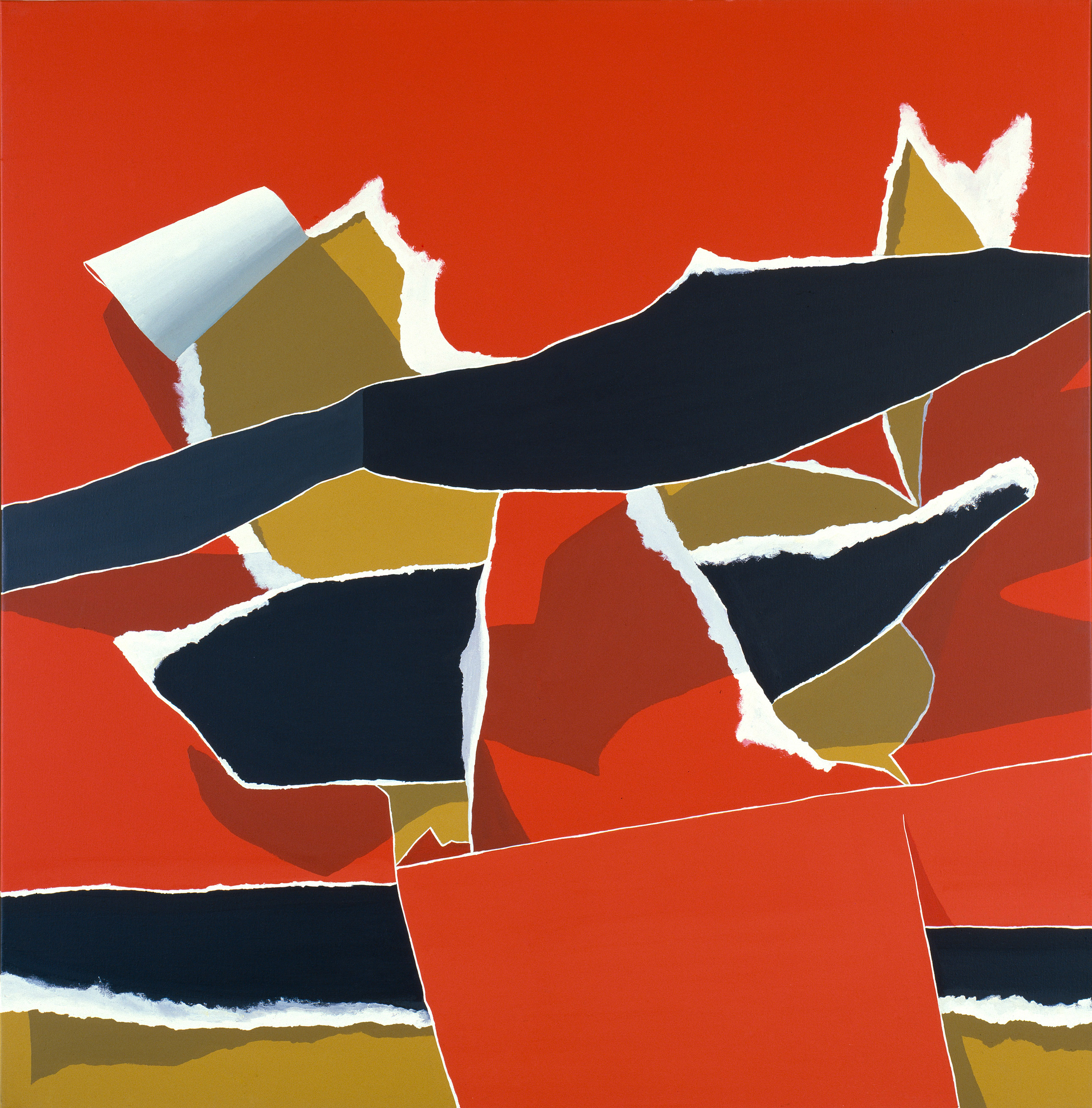 Red And Black Composition No. 5