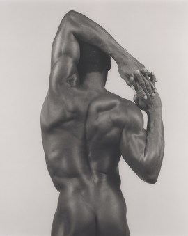 Robert Mapplethorpe, Derrick Cross, 1983. Gelatin silver print, 19 3/16 x 15 3/8 inches (48.7 x 39.1 cm)
